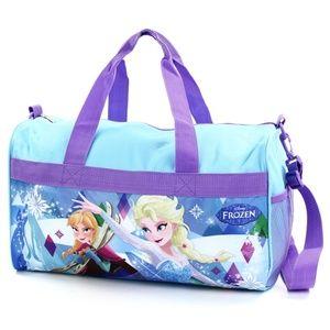 "Frozen 18"" Duffel Bag. Girls Overnight/Duffel Bag."